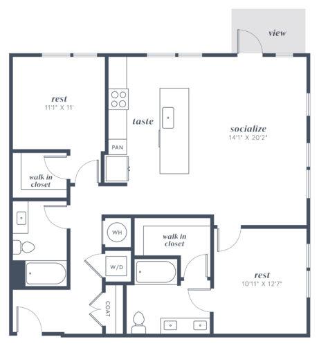 Alexan Julian Two Bedroom Floor Plan B6