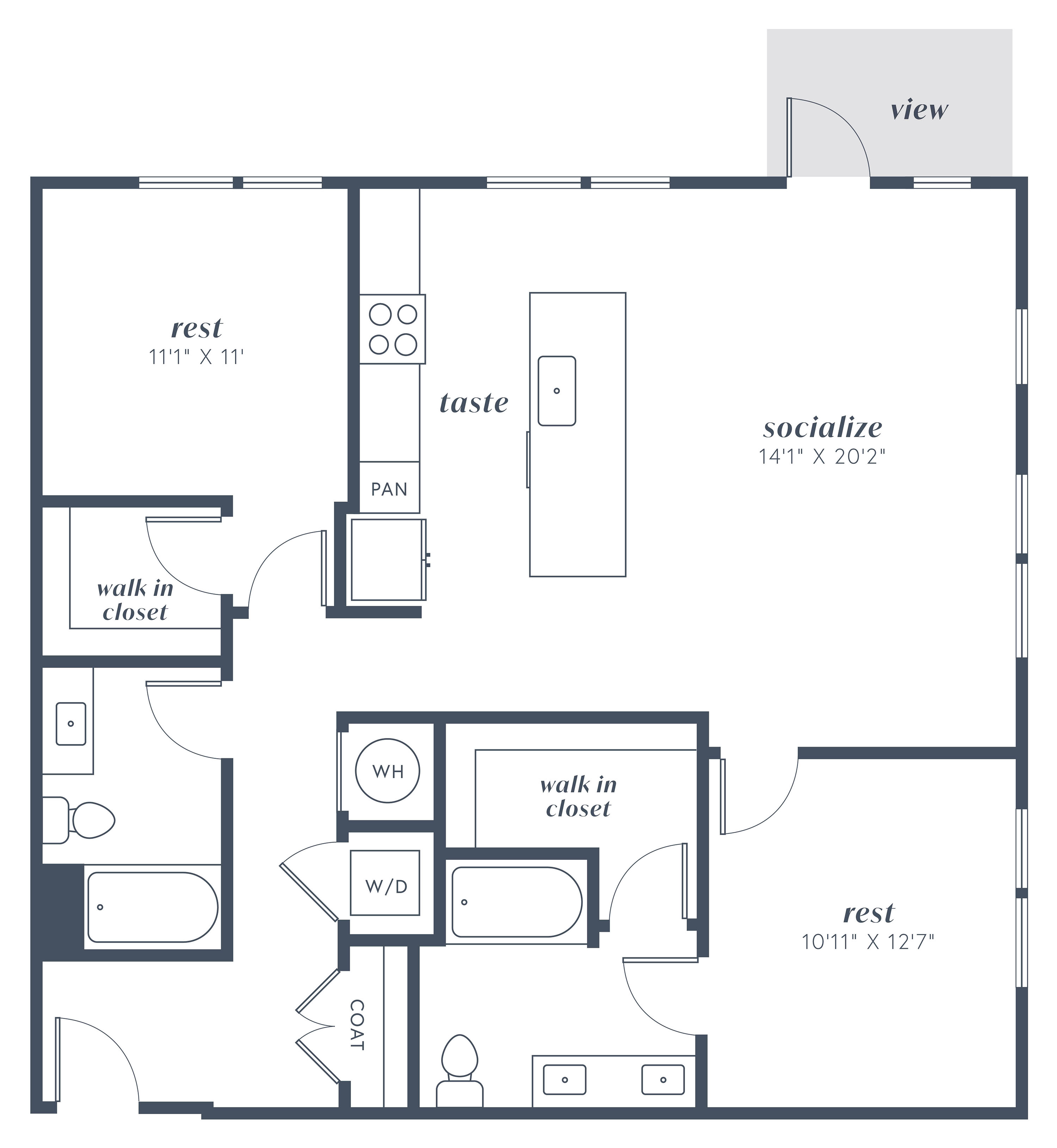 Alexan Julian Two Bedroom Floor Plan B6