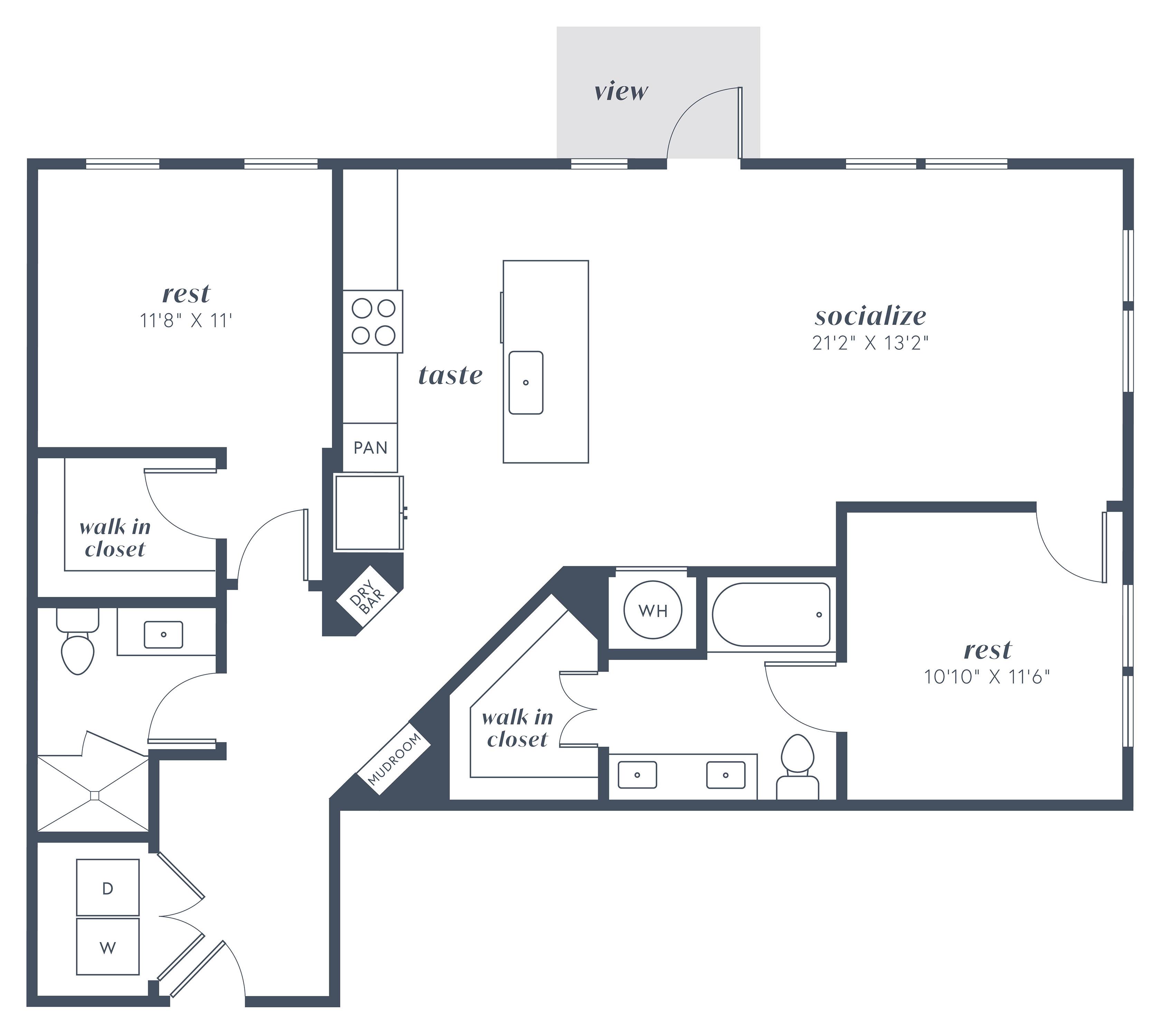 Alexan Julian Two Bedroom Floor Plan B7