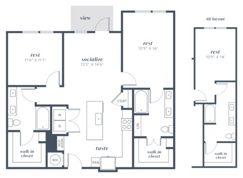 Alexan Julian Two Bedroom Floor Plan B4