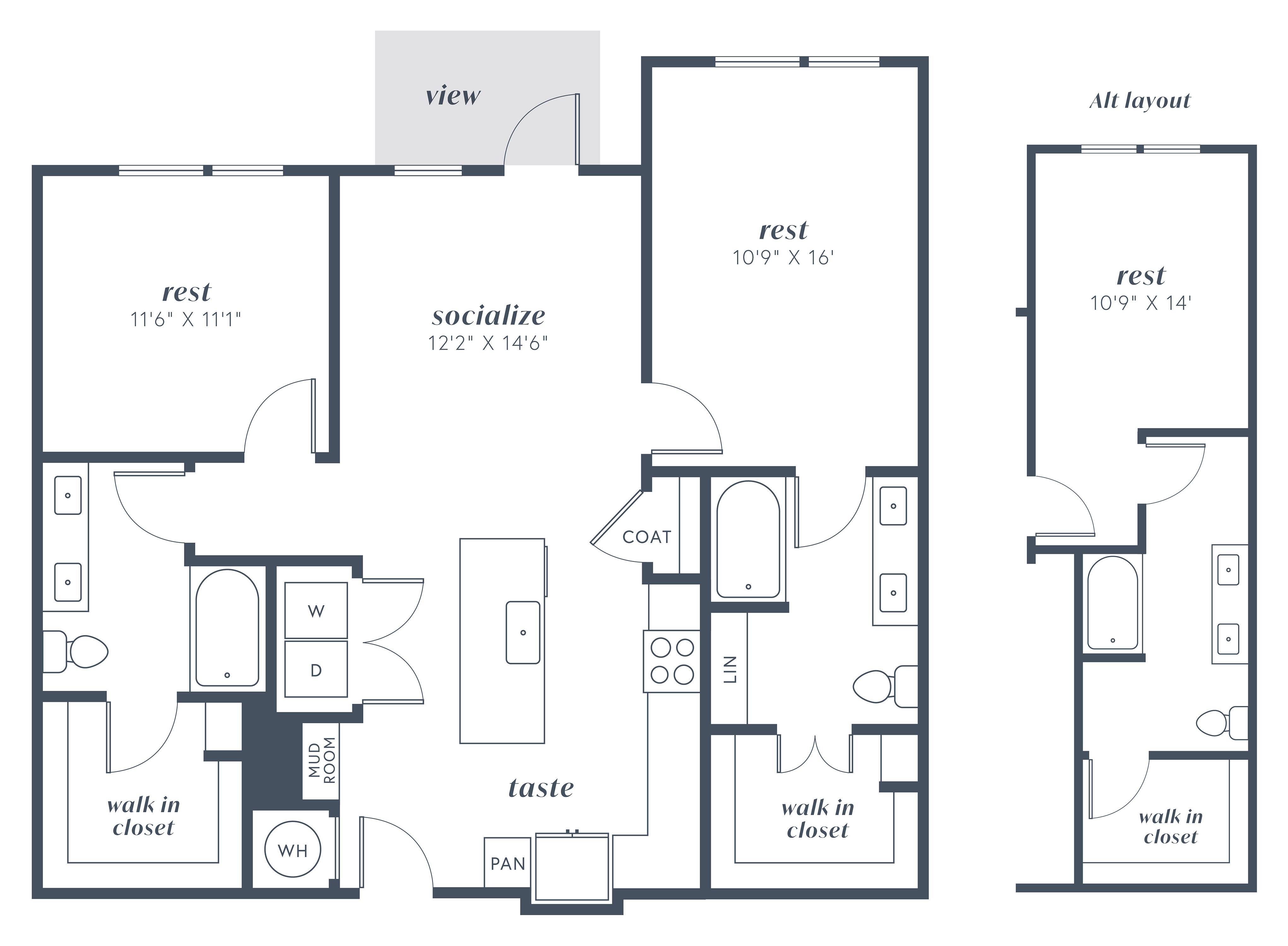 Alexan Julian Two Bedroom Floor Plan B4