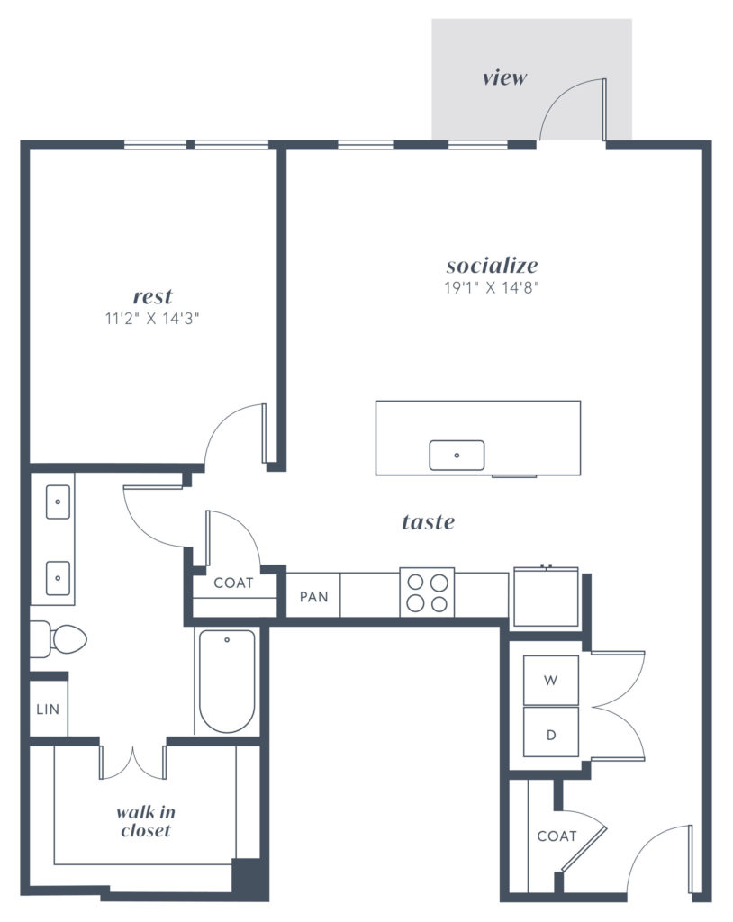 A11 one bed/one bath at Alexan Julian - Live Well and Be Happy
