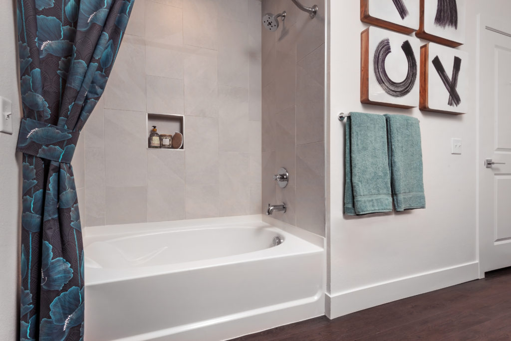Spa Bathroom with a walk-in shower in certain layouts - Helpful Features and Comfy Amenities Make all the Difference